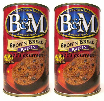B&M Original Brown Raisin Bread in the Can (Pack of 2) 16 oz Cans