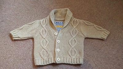 Next Boys knitted cardigan 0-3 Months