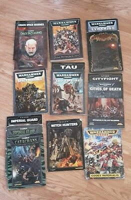 Games workshop warhammer 40k assorted codex and rulebooks