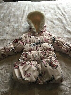 Girls Fur Lined Coat Aged 5-6  M&S