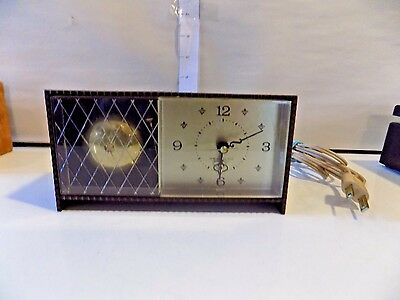 Small Vintage Westclox Electric Bedside Alarm Clock, Made In Usa