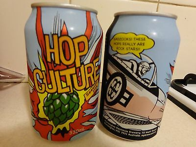 """""""hop Culture"""" Latest Can From Mornington Brewery (Pair Of The Same) Beer Cans"""