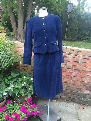 Vintage Two Piece Corduroy Skirt Suit