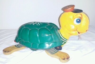 Vintage Fisher Price TIMMY TURTLE Musical Pull Toy Semi Working condition damage