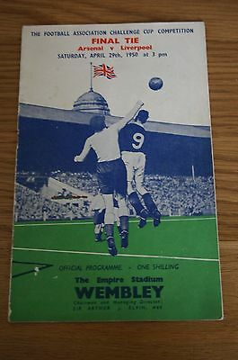 Arsenal v Liverpool 1950 FA Cup Final Programme