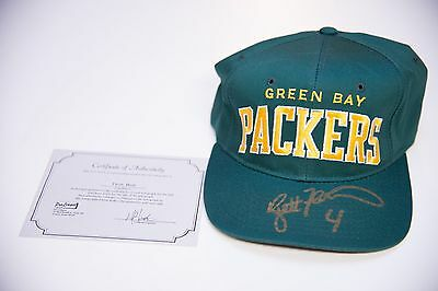 Green Bay Packers Autographed Starter Hat COA Proleague- Brett Favre