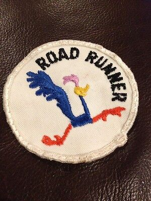 """Vintage - road runner  - 2 7/8"""" x 2 7/8""""  Embroidered Patch"""