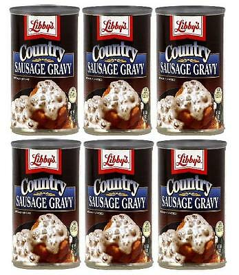 Libby's Country Sausage Gravy (Pack of 6) 15 oz Cans