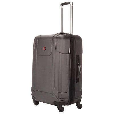"""Swiss Gear Luggage Sojourn  24"""" Expandable Spinner  Upright Charcoal Reg$325"""