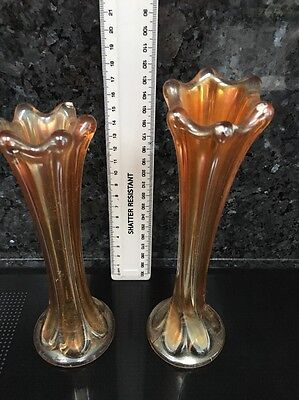 Amber Glass Vases Sowerby ?