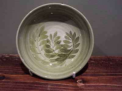 Jersey Pottery Green Leaf Bowl