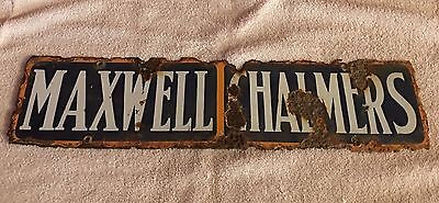 1920's Maxwell-Chalmers Porcelain Advertising Sign