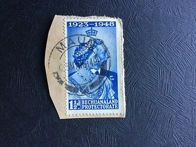 Bechuanland Protectorate Stamp 1 1/2d Royal Silver Wedding Used