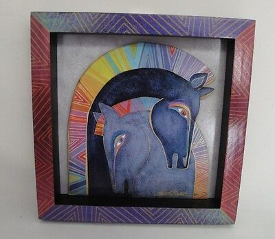 Laurel Burch Embracing Horses MDF Wall Art 8 x 8 3D