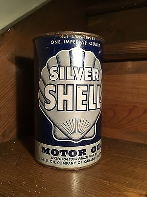 Vintage Oil Can Silver Shell One Imperial Quarts