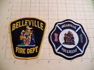 Belleville (ON,Canada) Fire Department Patches - Set of 2