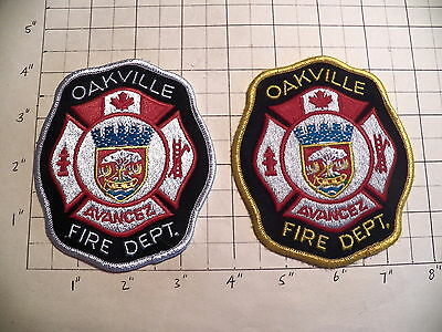 Oakville (ON,Canada) Fire Department Patches - Set of 2