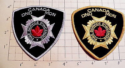 CANADA Canadian Force Base Fire Department (DND/MDN) Patches - Set of 2