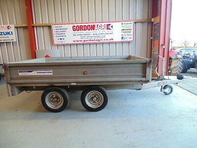 Indespension Dropside Plant trailer, 8x 5, twin axle