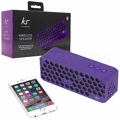 Kitsound Hive Wireless Outdoor Stereo Bluetooth iPhone iPod Smartphone Speakers
