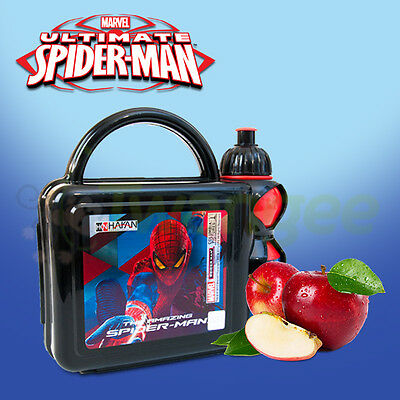 Children's Marvel Ultimate Spiderman Lunch Box and Reusable Drinking bottle set