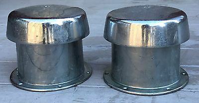 Vintage Wilcox Crittenden WC Extra Large Chromed Brass Ships Mushroom Air Vents