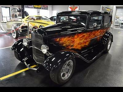 1932 Ford Other  custom street rod 350zz shaved ALL STEEL auto AC Black pwer windows and seats