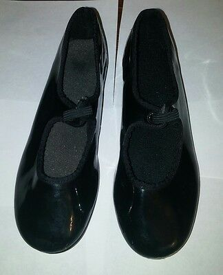 ABT Tap Shoe Spotlights Child Black Pat Patent Leather size 10 girl or boy