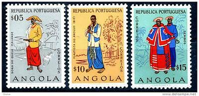 ANGOLA Lot - 3 Stamps LocalFolks **