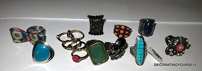 14 Costume Rings 1 Sterling Silver Ring Wearable Lot 925 Jewelry Vintage