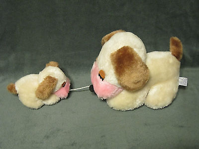 Vintage Wallace Russ Berrie 1974 Musical Mother Baby Kissing Puppy Dogs