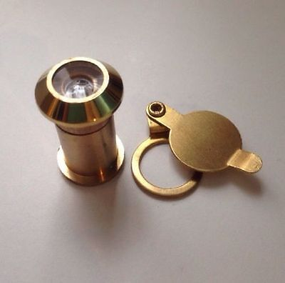 Brass Spy Hole Viewer For Wood Upvc Doors Quality 2.5-3.5cm Thick Door