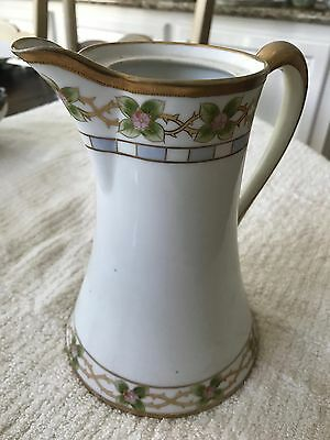 """Hand Painted 8"""" inch Nippon Pitcher"""