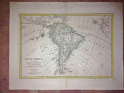 SOUTH AMERICA and its COLONIES 1774 by Samuel DUNN LARGE COPPER ENGRAVED MAP