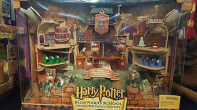 Hogwarts School Deluxe Electronic Play set with its 5 attachments