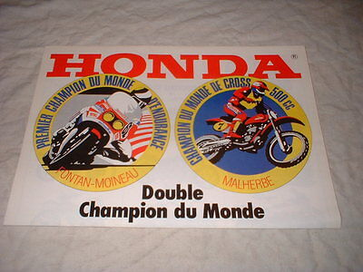 Prospectus 3Pages Gamme Honda 1975-1981