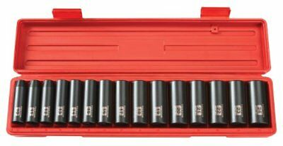 TEKTON 1/2-Inch Drive Deep Impact Socket Set, Metric, Cr-V, 6-Point, 10 mm - 24