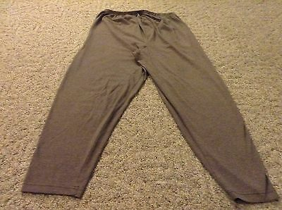 Women's maternity stretch pants leggings size Large brown elastic waist