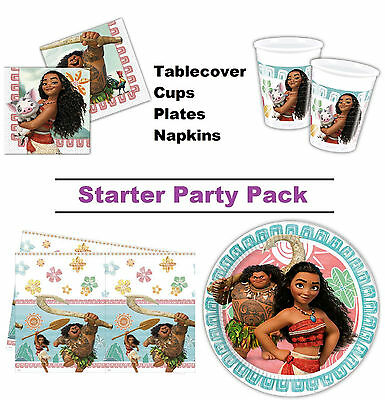 Disney Moana | Maui | Pua 8-48 Guest Starter Party Pack - Cup | Plate | Napkin