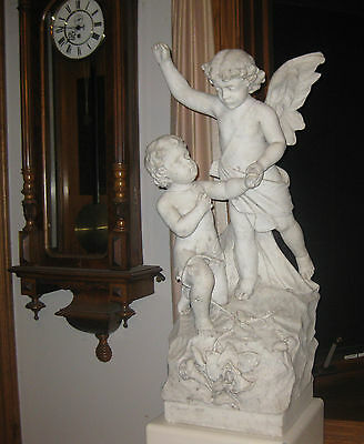 Antique Marble Garden Statue, Signed And Dated 1878