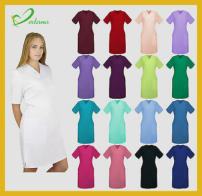 Medical Dress Tunic Womens Health Beauty Uniform 23 Colours HIGH QUALITY