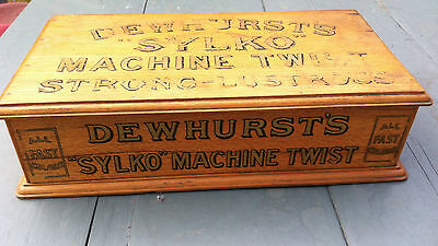 Antique shop display cabinet sewing Dewhursts sylko storage drawers accessory