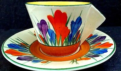 "Clarice Cliff "" Crocus"" Conical Coffee Duo"