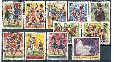 Guinea stamps - National costumes (cancelled stamps)