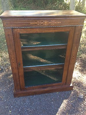 Antique Victorian Pier Cabinet Glazed Bookcase