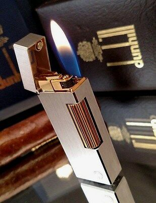 MUST SEE!  STUNNING!! 1988, PALLADIUM w/ GOLD DUNHILL Rollagas~12 MONTH WARRANY