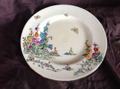 """Crown Staffordshire 9"""" Poppy Plate est. 1801 Made in England Fine Bone China GUC"""