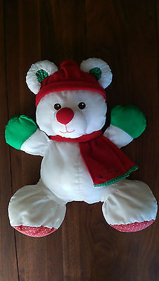 1992 Christmas Puffalumps #8128 Fisher Price Teddy Bear Doll