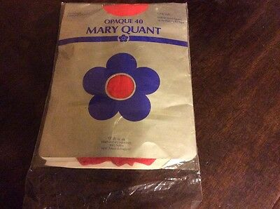 Vintage Mary Quant Red One Size Tights