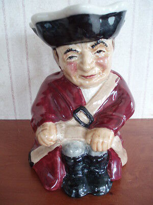 """Roy Kirkham Toby Jug Modeled As A Soldier Handpainted In Staffordshire 5"""" High"""